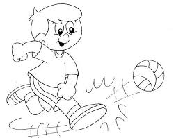 Small Picture Physical Activity Graphics Coloring Coloring Pages