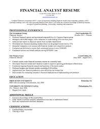 Currency Analyst Sample Resume Resume Template Financial Analyst Resume Sample Free Career 12