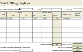 Log Templates Excel Travel Book Template Vehicle Car Format Expense