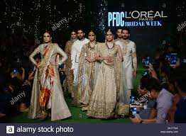 Mnr Design Studio Models Walks On Ramp And Presenting Creations Of Pakistani
