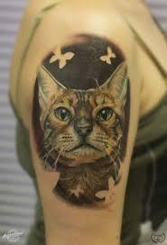 бенгальский кот кошкаcattattoo Cat татуировки татуировки
