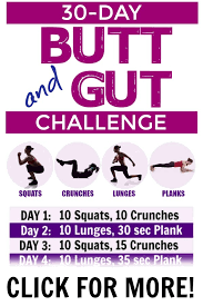 30 Day Workout Plan For Your Butt And Abs Tone And Tighten