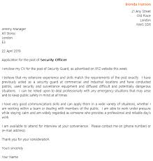security cover letter samples security guard cover letter example icover org uk