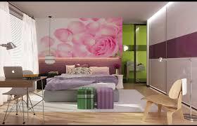 Pink Wallpaper Bedroom Bedroom Tween Bedroom Decor With Wallpaper And Girly Curtain