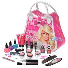 makeup set for kids pink white maxed vanity bag makeup barbie