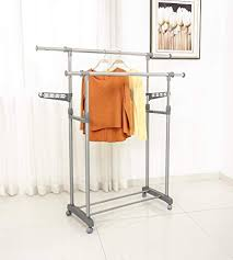 Adjustable Coat Rack Adorable Amazon Jusdreen 32rods Clothes Drying Rack Adjustable Clothes