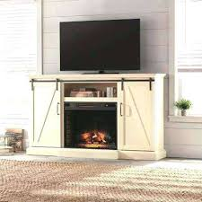 barn door media center. Barn Door Media Center Stand Electric Fireplace With Sliding In Ivory Hardware Entertainment Tv Cent