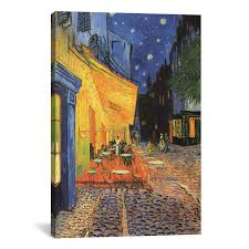 bring gallery worthy style to your decor with this lovely canvas print depicting vincent van gogh s the cafe terrace at night