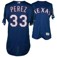 Authentic Chicago Fanatics Martin Sox White Game-used 2016 Perez Texas April 22 Rangers Jersey 33 Blue Vs On
