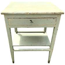 Hand Painted Bedside Table Chalk Side Ideas White Vintage Furniture