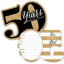50th Anniversary Party Invitations We Still Do 50th Wedding Anniversary Shaped Fill In Invitations Anniversary Party Invitations Set Of 12