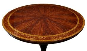 mahogany inlaid 6ft round dining table stunning inlaid table with a carved barrel stem