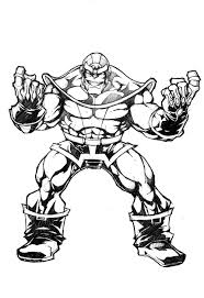 Marvel thanos coloring pages copy avengers page