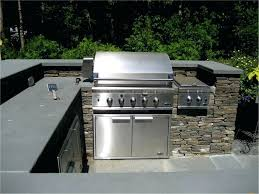 outdoor kitchen material options s built in grill backyard countertops concrete countertop sealer