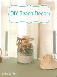 diy beach decor candle holder