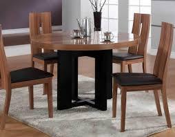 cool round wood dining table set 5 fascinating modern tables 17 kitchen mid century furniture nook curtain good looking round wood dining table