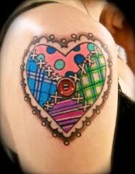 31 best Patchwork Rose Tattoo images on Pinterest | Heart tattoos ... & tattoo's on Pinterest | Angel Wing Tattoos Angel Wings and Heart . Adamdwight.com