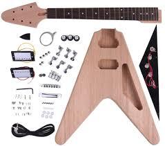 ammoon diy electric guitar kit v style