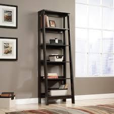 home office bookshelves. Sauder 5 Shelf Leaning Bookcase In Jamocha Wood Home Office Bookshelves K