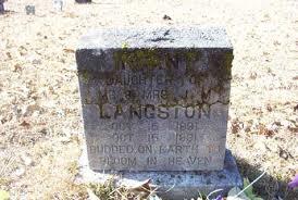LANGSTON, Infant Daughter, of Mr & Mrs J M Langston, Oct 15, 1931 - Oct 15, 1931, BUDDED ON EARTH TO BLOOM IN HEAVEN, John Copham - langstondau