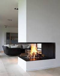 Corner fireplace modern-family-room