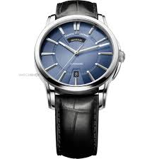 men s maurice lacroix pontos day date automatic watch pt6158 mens maurice lacroix pontos day date automatic watch pt6158 ss001 43e 1