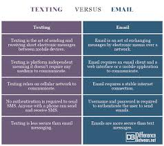 Difference Between Texting And Email Difference Between Texting