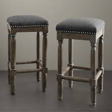 Wood Counter Stools With Backs Grey Leather Breakfast Bar Dark  Blue Spanish Style White Blue Leather Bar Stools85
