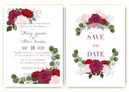 Garden State Floral Design Wedding Invitation Card With Colourful Floral And Leaves