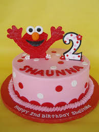 Little Girl Elmo Birthday Cake A Happy Elmo Jumps Out Of A Flickr