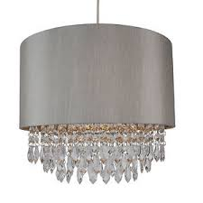 shade chandelier lighting. Image Is Loading Modern-Easy-Fit-Drum-Shade-Silver-Fabric-Ceiling- Shade Chandelier Lighting L