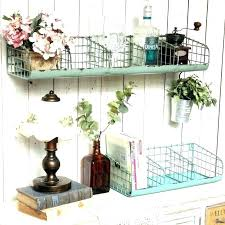 wire basket wall shelf wire wall shelf with hooks wire wall shelves vintage loft rustic distressed