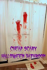 Bathroom Decor Stores Scary Halloween Party Bathroom Oh My Creative