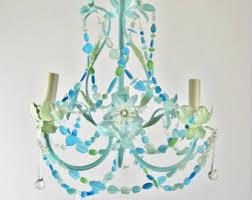 coastal decor lighting. sea glass lighting fixture chandelier beach cottage chic coastal decor r