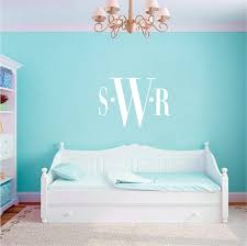 bedroom monogram wall decal zoom