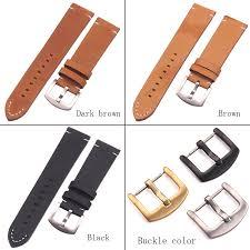 Italian Genuine Leather <b>Watchbands Black Dark Brown</b> Men 18 20 ...