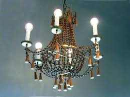 full size of wooden beaded light fixture small wood bead chandelier medium size of grey circle