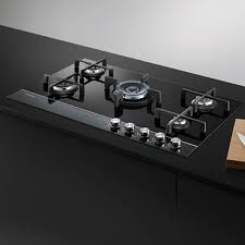 eands kitchen bathroom laundry fisher paykel 90cm 5 burner gas on glass cooktop cg905dnggb1