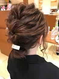 簡単ヘアアレンジ ハーフアップ ショート 結婚式oase Makoto Brands