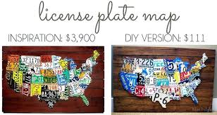 license plate wall art for sale