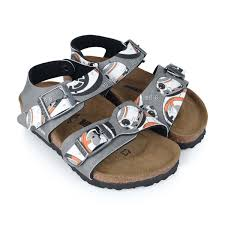 Designer Birkenstock Sandals Birkenstock Boys Gray Star Wars Bb 8 Sandals Kids Designer