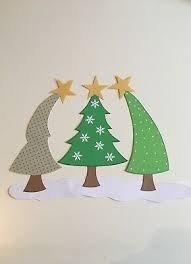 Fensterbild Tonkarton Tannenbaum Tannenbäume Weihnachten