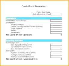 Pro Forma Cash Flow Projections Month Cash Flow Statement Template Pro Forma Excel Monthly