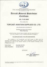 Topcast Asa 100 Certificate
