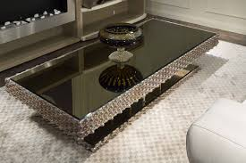 black coffee table with mirrored top ideas