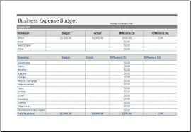 Business Expense Report Template Excel Monthly Expenses Templates Ms ...