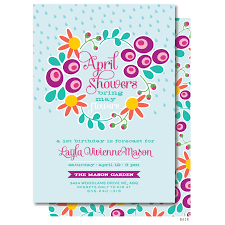 april birthday invitation