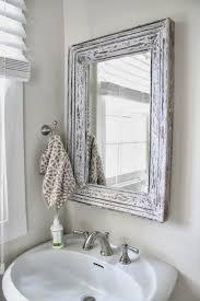 Bathroom Cabinets : Vintage Wood Framed Bathroom Wall Mirrors Inside Vintage  Wood Mirrors (Image 4