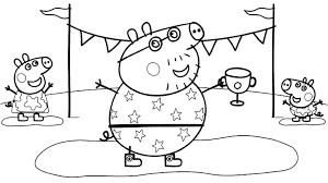 Collection of peppa pig characters easy coloring to hard difficult ones. Peppa Pig Coloring Pages Coloring Rocks