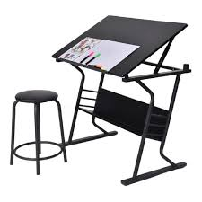 Table Dessin Inclinable Avec Tabouret Multifonctionnel Table
